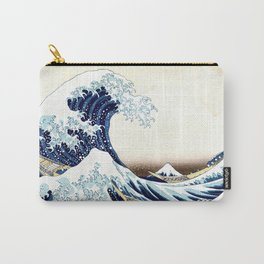The Great Wave off KanagawA muted Carry-All Pouch