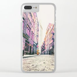 Stone Street - Financial District - New York City Clear iPhone Case