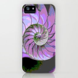 Spiral Abstract Shades of Purple's, Lilac, & Grey Patterns iPhone Case