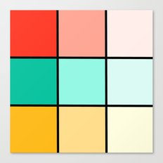 Modern Geometric Pastel Squares Canvas Print