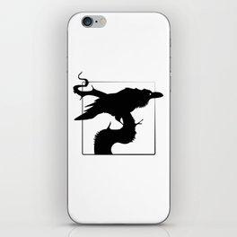 Raven Silhouette III iPhone Skin
