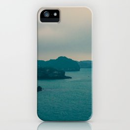 Mysterious dark landscape in shades of blue and gray (Halong Bay, Vietnam) iPhone Case