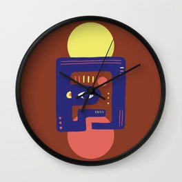 Mother Earth - Minimal Modern Mid-Century Snake Wall Clock