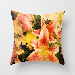 Send Me A Bouquet Throw Pillow