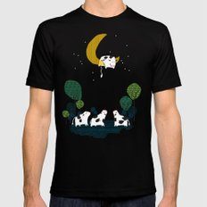 A cow jump over the moon Black LARGE Mens Fitted Tee