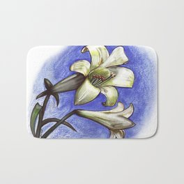 Easter Lily Bath Mat