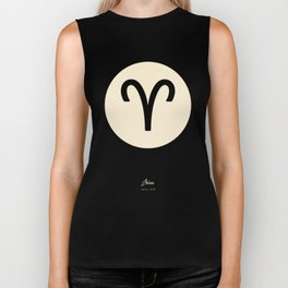 Aries Symbol Black Biker Tank