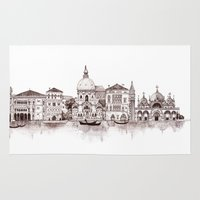 venice Area & Throw Rugs featuring Venice by Justine Lecouffe
