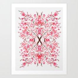 Sakura pattern pink Art Print