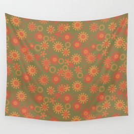 abstract pattern with suns Wall Tapestry