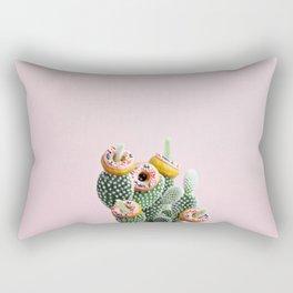 Donut Cactus In Bloom Rectangular Pillow