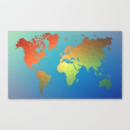 Poly Map Canvas Print