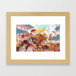 Animal Mikoshi Matsuri!  Framed Art Print