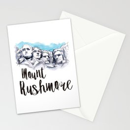 Mount Rushmore watercolor Stationery Cards