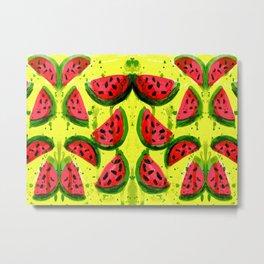 Watermelon Meltdown Metal Print