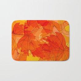 Autumn leaves - sketch Bath Mat