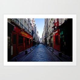 Bastille Street  Art Print