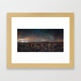 Exploring the Bisti Badlands of New Mexico Framed Art Print