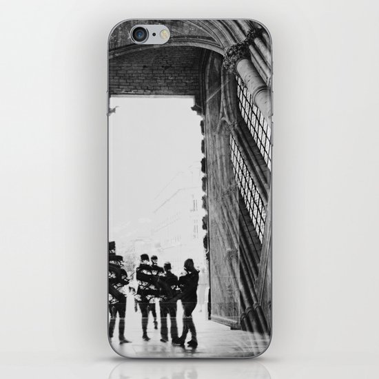 black and white cathedral iPhone & iPod Skin