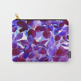 Blue Leaves - Inverted Art Series Carry-All Pouch
