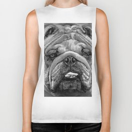 Bulldog Black and White Biker Tank