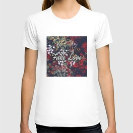 Fake Love Red Floral T-shirt