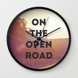 on the open road. Wall Clock