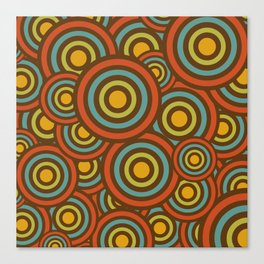 retro circles Canvas Print