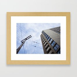 The first time I visited a city, I sunburned the roof of my mouth. Framed Art Print