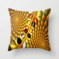 fractal Throw Pillows featuring Fractal by Digital-Art