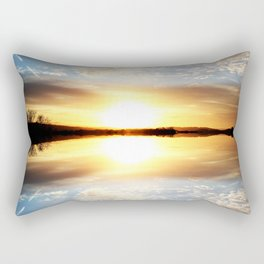 Reflecting Sunset - 11 Rectangular Pillow