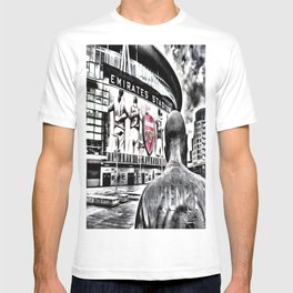 Thierry Henry Statue Emirates Stadium Art T-shirt