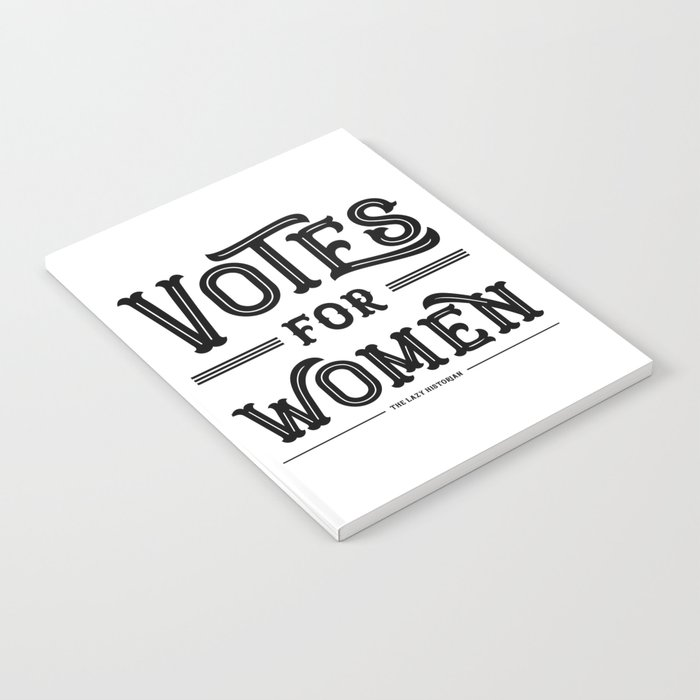 Votes for Women (in black) Notebook