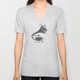 Halloween in a Gramophone Unisex V-Neck