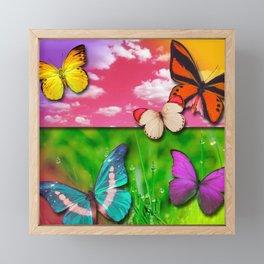 Colorful Butterflies & Beautiful Nature Framed Mini Art Print