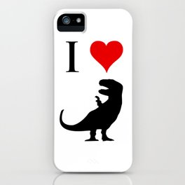 I Love Dinosaurs - T-Rex iPhone Case