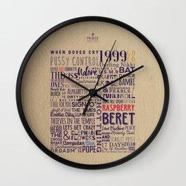 PRINCE Song Poster Wall Clock