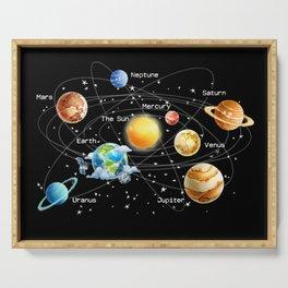 Solar System Serving Tray