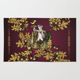 History of the autumn forest Rug