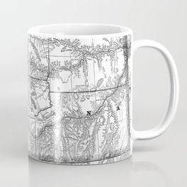 Vintage Map of Montana (1881) BW Coffee Mug