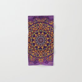 Mandala Purple Zen Spiritual Bohemian Hippie Indian Yoga Mantra Meditation Hand & Bath Towel