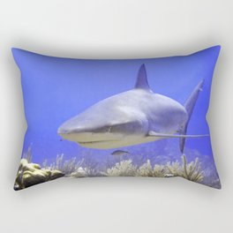 Shark Swimming Into Shot Rectangular Pillow