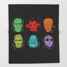 Old Grotesque Throw Blanket