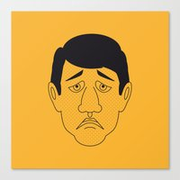 robert farkas Canvas Prints featuring Robert by Refresh Your Guess Who!