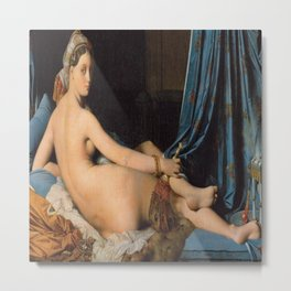 Jean Auguste Dominque Ingres's The Grand Odalisque Metal Print