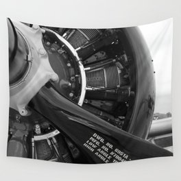 Props and Pistons  Wall Tapestry