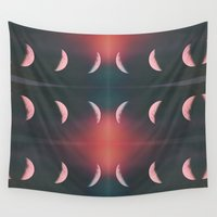 lunar Wall Tapestries featuring Lunar Eclipse by Christine VanFonda