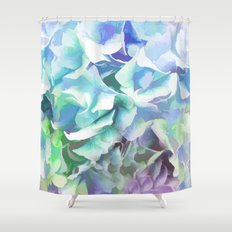 Hydrangea in a Pastel Light Shower Curtain