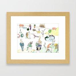 Inspired by Bosch Framed Art Print
