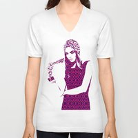 cara delevingne V-neck T-shirts featuring Cara Delevingne by fashionistheonlycure